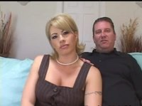 Slutty milf talks her husband into trying something really new