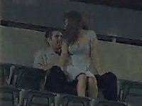 Very naughty couple is caught on stadium security cam