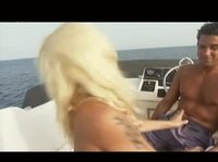 Hot yacht trip seems to include a bonus cock riding