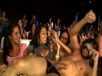 Masked stripper makes hard cash at a bachelorette party