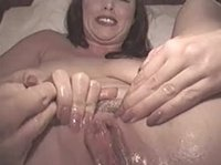 Anal play makes her squirt like crazy