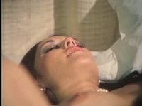 Dark-haired slut is comparing cocks of her lovers