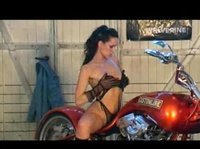 Hot bikes turn this jeans cutie on