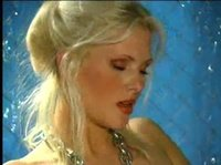 Sexy blonde in chains confesses that this metal dildo is her best friend