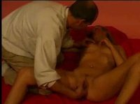 Pussy massage from a balding guy