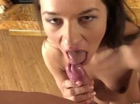Sweet warm mouth on a hard shaft