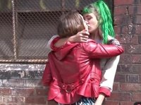 Pushy Aussie punk chick seduces another girl