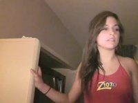 Young tipsy student takes her panties off at a cheap motel