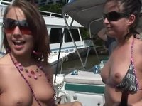 Naked tits is the pass to this yacht party