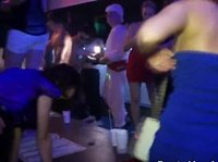 Sexy chicks enjoy wild dancing and more at this club