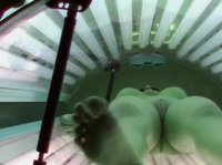 Girls caught on cam at tanning salon
