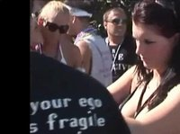 Sexy dancing at a festival