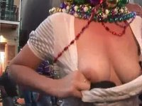 Mardi Gras is the time for bare tits