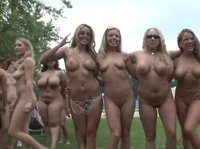 The bustiest nude party in the world