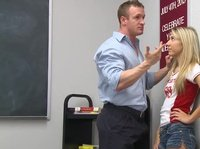A young blonde student with small tits get drilled by her teacher