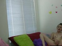 A young girl decided to relax and play with herself, and she has no idea her webcam is still on