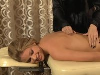 A sweet sexy blonde wanted a female masseur, and now we see why