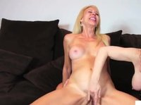 Two mature blonde milfs are trying group sex with a neighbor