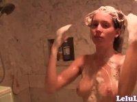 Lelu Love is taking a shower