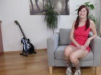This sweet young redhead is any guy's dream: she plays guitar and likes to give BJs