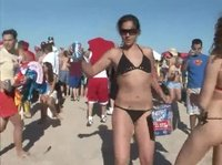 Beach bikini dancing