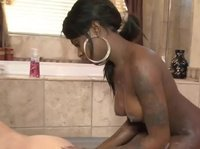 Hot massage from a hot black babe