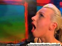 A German slut is taking so many cocks it's unbelievable
