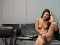 Look what this shameless Asian chick is doing at the office no wonder she's got a raise