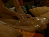 He massages her oiled body to relax her before getting into her pussy