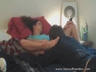Amateur Couple Has Some Fun On The Bed