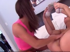 Lesbian chicks with rainbow socks fingering each other