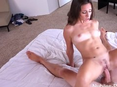 Brunette Fucked Hard On Bed