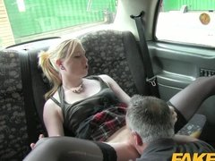 Dirty Taxi Ride For Blonde Babe